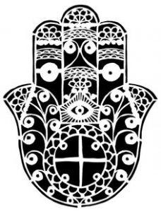 Dibujo Mano de Fátima 1494416493