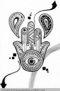 Dibujo Mano de Fátima 1494416538