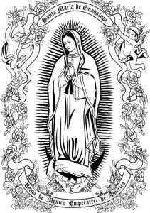 Dibujo Virgen de Guadalupe 1494433792